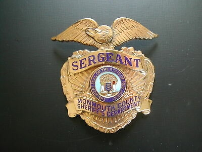 U.S. Monmouth County Sheriff's Department Sergeant  Badge 1957 • 49.99£