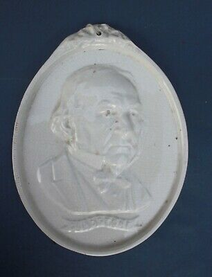 STAFFORDSHIRE PEARLWARE PLAQUE Of WILLIAM GLADSTONE C1898 • 13£