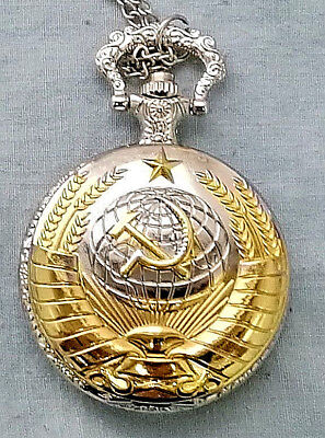 Russian Gold & Silver Pocket Watch CCCP Hammer Sickle Army Cold War Old KGB WW2 • 12.50£