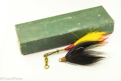 $ CDN5.67 • Buy Vintage Marathon Musky Hound Minnow Antique Fishing Lure In Box JJ35
