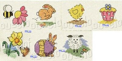 Mouseloft - Springtime Mini Cross Stitch Kits - BUY 3 OR MORE -15% OFF • 3.39£