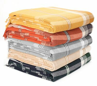 £12.99 • Buy Highland Lrg. Cotton Throw For Sofa Bed Or Armchair, 150 X 200cm - In 5 Colours