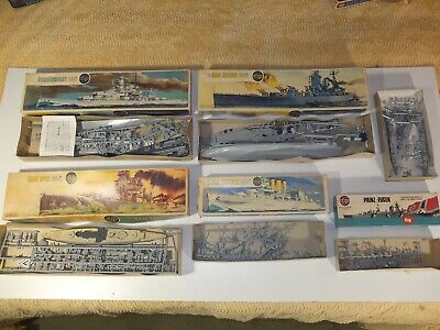 Job Lot Airfix 1/600 And 1/1200 Model Ship Kits - Started, Incomplete For Spares • 8.27£