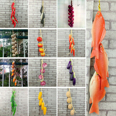 Artificial Vegetable String Fake Simulation Onion Hanging Kitchen Party Decor • 3.89£