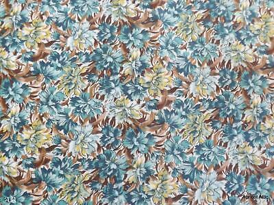 £14.99 • Buy 86 X 148 Cms Vintage Cotton Lawn Fabric Flowers Floral Dress Making Crafting