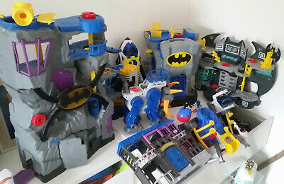 Imaginext BUNDLE Batman Tower / Cave 💙 VGC Lights *Collection ONLY* • 250£