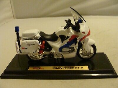 Maisto Bmw R1100 R-tp Police Motorcycle - Mint/unboxed - L@@k!! • 500£