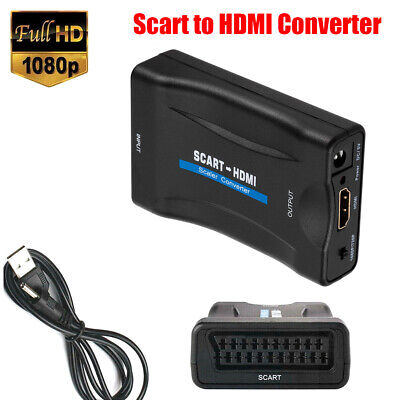 1080P SCART To HDMI Video Audio Upscale Converter Signal Adapter Receiver  #F8s • 5.34£