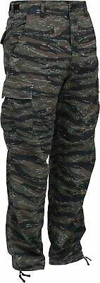 $27.95 • Buy Tiger Stripe Camouflage Bdu Pants Military Cargo 6 Pocket Fatigue Trousers