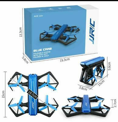AU45.27 • Buy JJRC Blue Crab Foldable Drone With One Key Folded In Half -720P * WIfi
