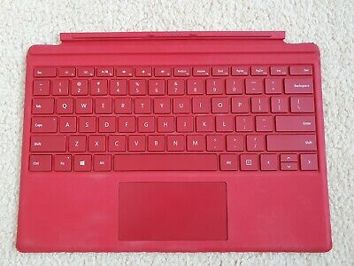 AU95 • Buy Genuine Microsoft Surface Pro 3 Pro 4 Type Cover Keyboard With Backlit, Red
