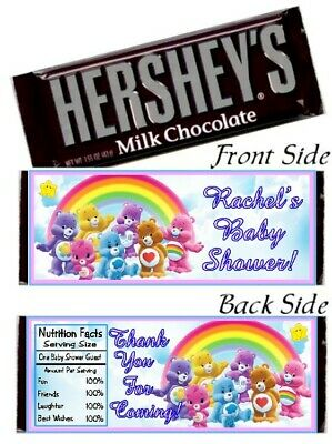 £5.06 • Buy 12 Care Bears Birthday Party Baby Shower Hershey Candy Bar Wrappers
