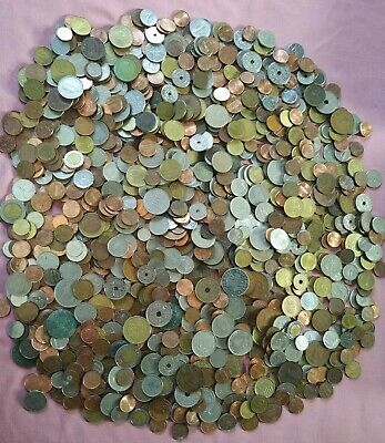 4.8kg Job Lot Of Mixed World Foreign & UK Coins  • 15£