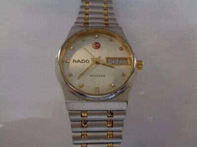 $ CDN11.86 • Buy RADO VOYAGER UNISEX WATCH AUTOMATIC DAY & DATE SS 2tone