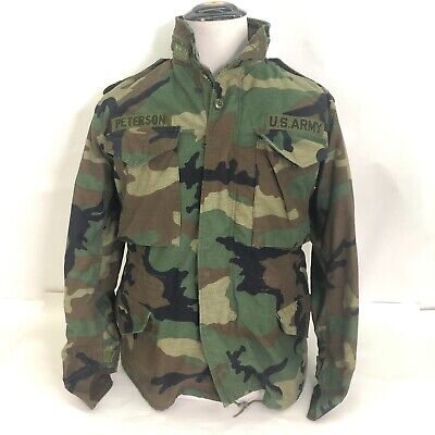 $47.99 • Buy  US ARMY Military Cold Weather Field Jacket Coat Camo M65 Small Short+ Liner '92