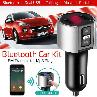 FM Transmitter Wireless Bluetooth Car Kit Radio Adapter Music Player USB Charger • 6.91£