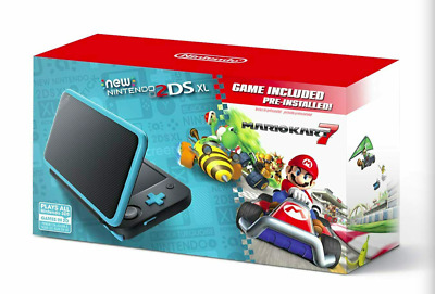 $ CDN224.08 • Buy New Nintendo 2DS XL Console W/ Mario Kart 7 Pre-installed Black/Turquoise