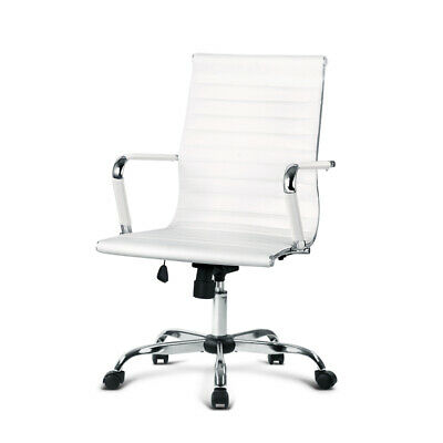 AU162.48 • Buy Eamon Gaming Office Chair Computer Desk Chairs Home Work Study White Mid Back