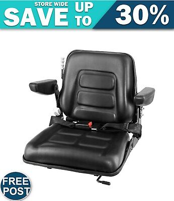 AU198.72 • Buy Tractor Seat With Armrest  Excavator Universal Suspension Backrest Truck Chair
