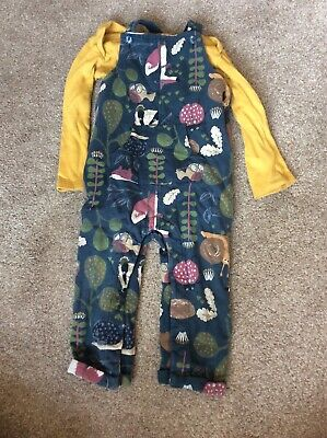 M&S Dungarees With Tu Longsleeved Vest  12-18 Months • 1.20£