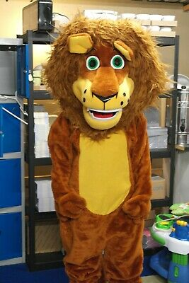 Alex The Lion Character Mascot Adult Costume Unisex One Size • 125£