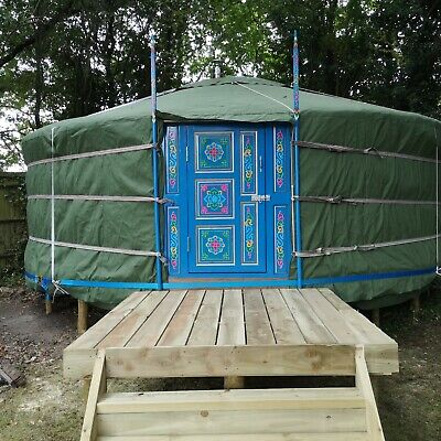 Handcrafted Traditional Mongolian Yurt, Tipi, Ger, Bell Tent UK Adaptations 5.8m • 5,250£