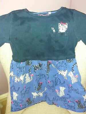 Girls Blue Zoo Dress Aged 4-5 Long Sleeved • 1.60£