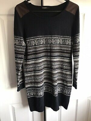 🌈 Autograph Knitted Jumper Dress Nordic  Design Size 12 • 10£