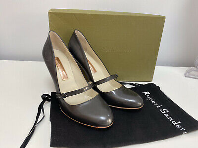 BRAND NEW Rupert Sanderson Pewter Grey Court Shoes EU 42/UK8.5 - With Box • 50£