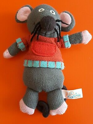 Latitude Enfant Plush Knitted Soft Toy Marie Mouse French Kids Baby Grannimals • 4.50£
