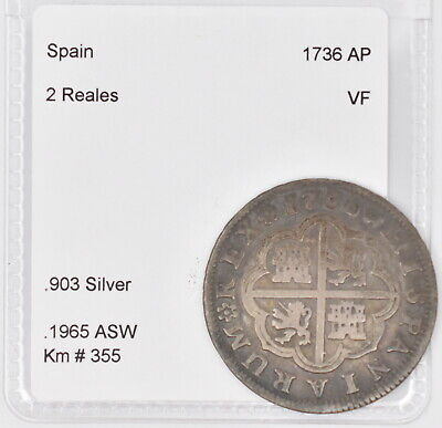 $ CDN105.44 • Buy 1736 AP Spain Silver 2 Reales (Km #355)
