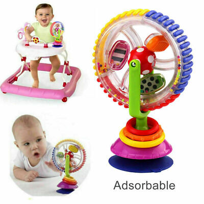 Baby Kid Toy Infant Toys Rainbow Ferris Wheel Rattle Clanking Suction High Chair • 6.79£