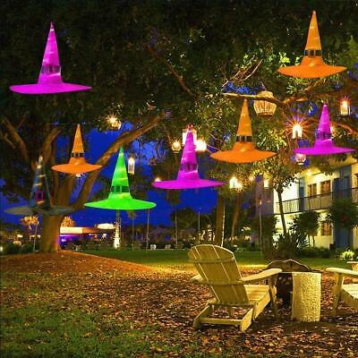 $ CDN5.92 • Buy 1PC Halloween Witch Hats With Lights LED Light Up Outdoor Hanging Decor Caps
