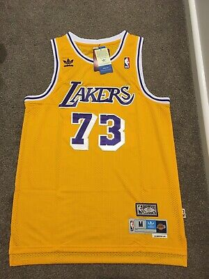 AU49 • Buy Dennis Rodman #73 Los Angeles Lakers NBA Basketball Jersey Medium BNWT
