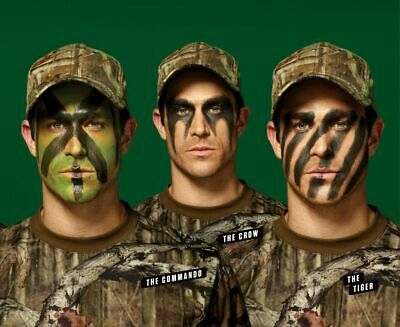 Woodland Camouflage GI/Army/Military Hunting Wind Out 3 Colour Face Paint Stick  • 2.99£