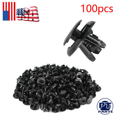 $6.99 • Buy 100pc Fender Splash Shield Clips Push Pin Fastener Retainer For Honda Accord