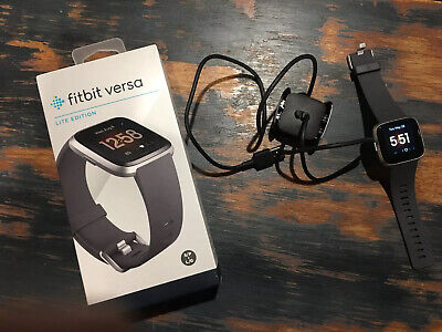 $ CDN99.99 • Buy Fitbit Versa Lite Edition Smartwatch Gray + Small And Large Bands