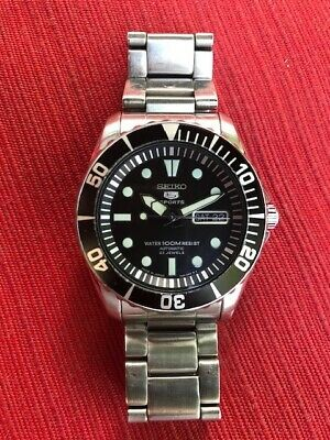 $ CDN100 • Buy Seiko 5  Sports Automatic Black Dial Sea Urchin Steel Men Watch (SNZF17K1)