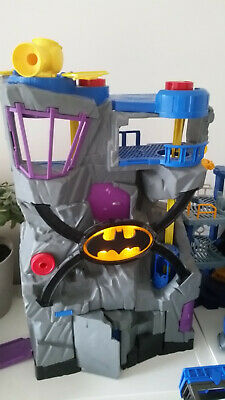 Imaginext Batman Tower / Cave 💙 VGC Lights • 25£