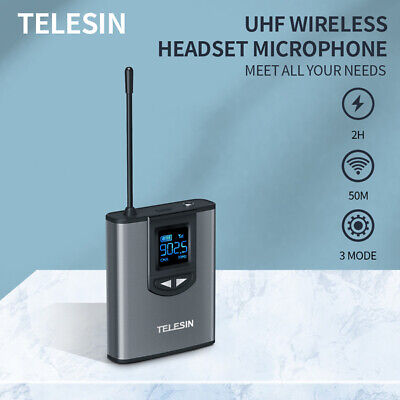 UHF Wireless Microphone Lavalier Lapel Headset Mic With Receiver Transmitter Set • 36.49£