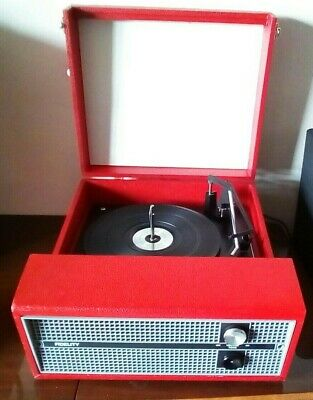 Fidelity HF45 Portable Record Player C.1970 Vintage -  Working • 50£