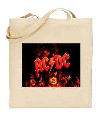£6.49 • Buy Shopper Tote Bag Cotton Canvas Cool Icon Stars Elvis ACDC Ideal Gift Present