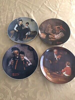 $ CDN16 • Buy LOT OF 4 Norman Rockwell HERITAGE COLLECTION Collectors Plates 3,4,5, & 6