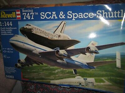 Vintage Revell Boeing 747 SCA & Space Shuttle Model Kit 1:144, *NEW *RARE  • 59.99£