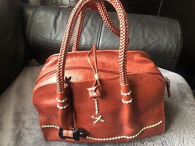 $62.63 • Buy Quality RADLEY London Leather Handbag Red Brick Color With Dog Size M Used