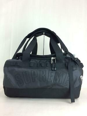 Supreme × THE NORTH FACE Arc Logo Small Base Camp Duffle Bag Black PVC Used • 325.71£