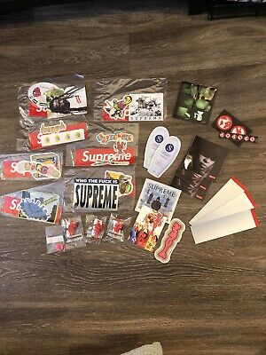 $ CDN75.19 • Buy Supreme Sticker Lot Parachute Toys Violence Pin FW19 SS19 Scratch Off Bogo