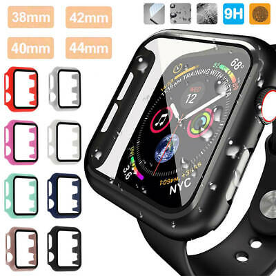 $ CDN3.93 • Buy For Apple Watch Series 5/4/3/2/1 Tempered Glass Full Case Cover Screen Protector