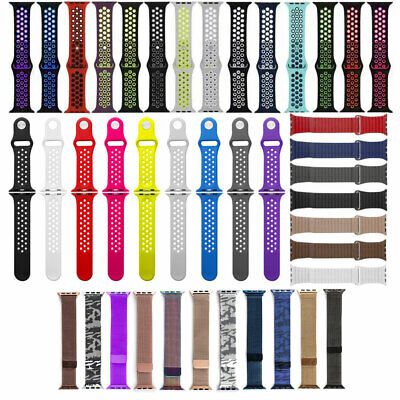 AU7.59 • Buy Silicone Milanese Magnetic Leather Sport Band Strap For Apple Watch 1 2 3 AU