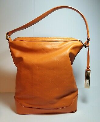 HOBBS Orange Butter-soft Leather Shoulder Bag • 75£